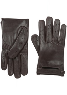 Armani Exchange Men's Leather Driver Gloves