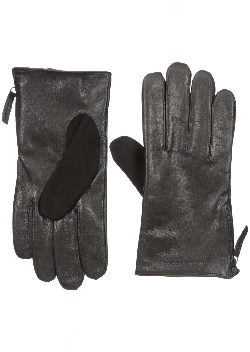 Armani exchange black leather gloves - Armani Exchange Men S Leather Gloves Small Medium