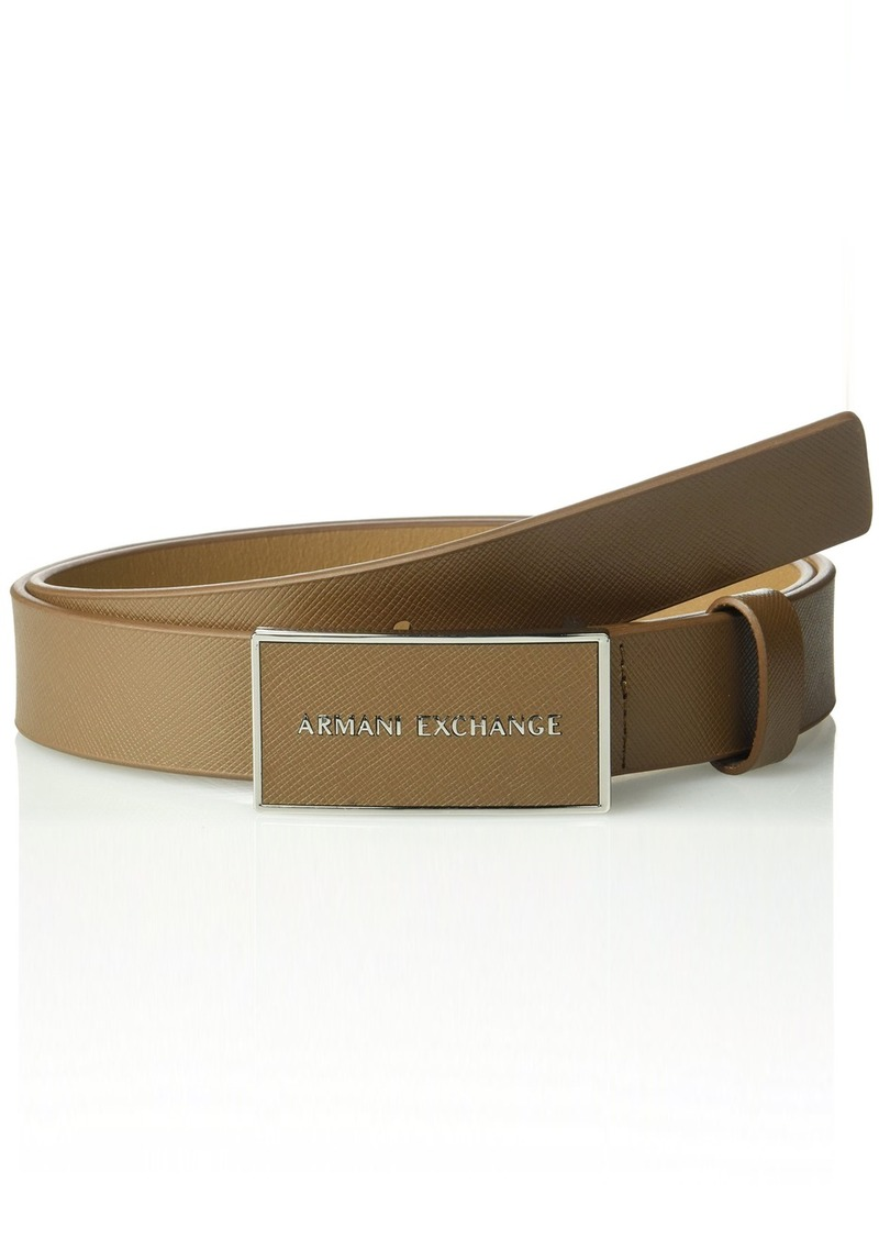 armani exchange armani exchange mens leather saffiano