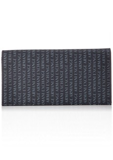 Armani Exchange Men's Leather Yen Wallet navy