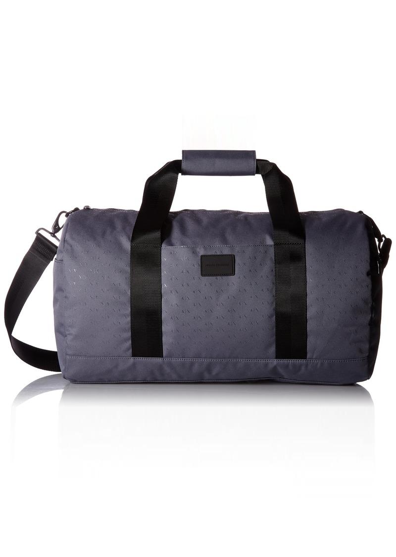 8bbd7e89a75a Men's Light Weight Dobby Nylon All Over Logo Duffle Weekender Bag