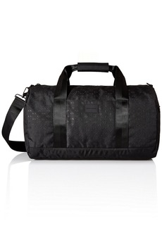 Armani Exchange Men's Light Weight Dobby Nylon All Over Logo Duffle Weekender Bag