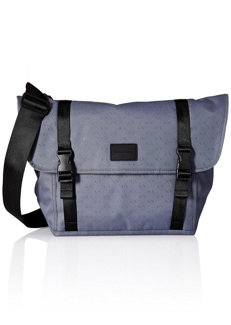 8549a0ead1b4 Men's Light Weight Dobby Nylon All Over Logo Messenger Bag
