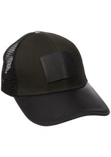 Armani Exchange Men's Logo Patch Mesh Trucker Hat