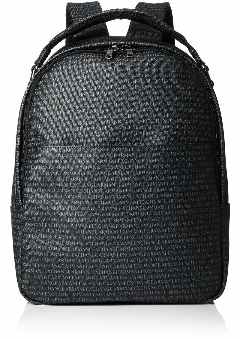 Armani Exchange Men's Logo Print Backpack nero/black