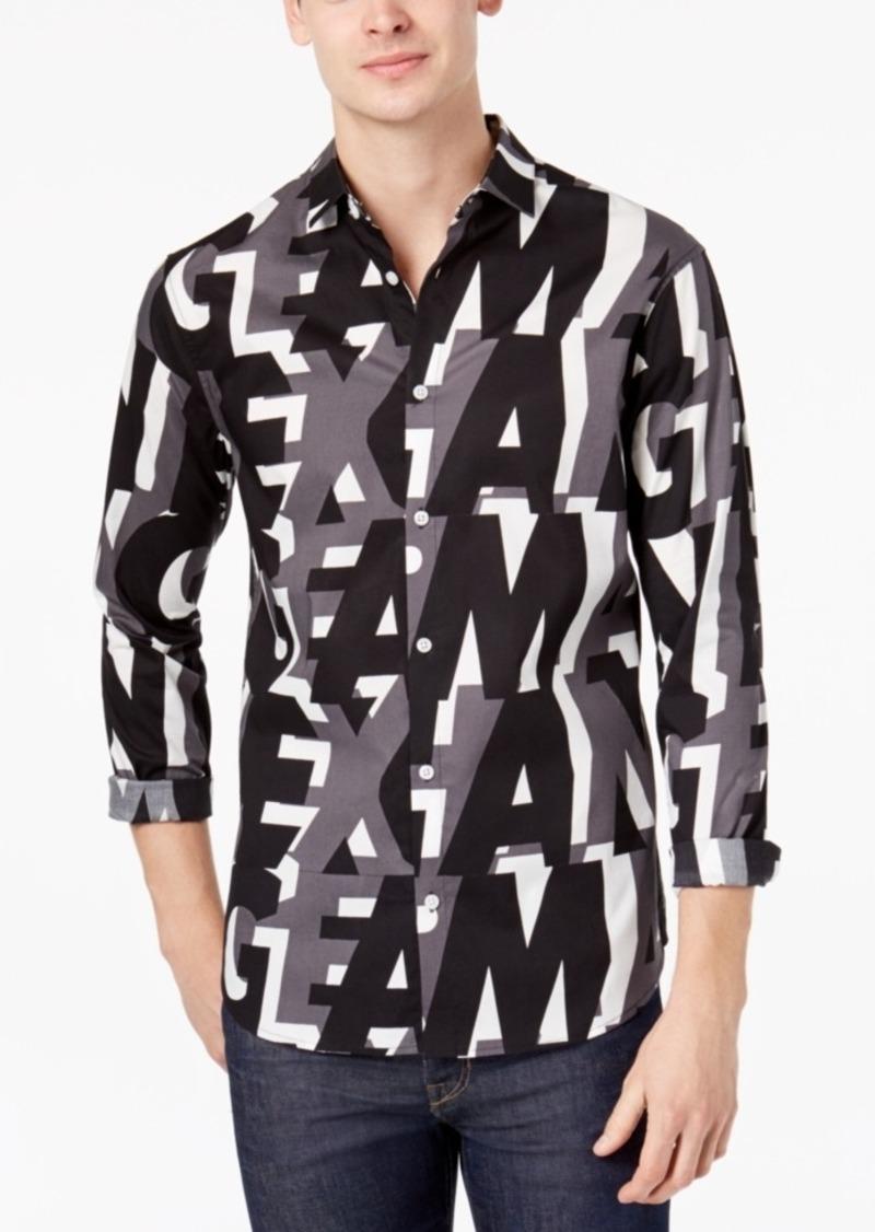 Shirts Armani Men's Exchange Shirt Casual Logo Print 6FgzTw0q