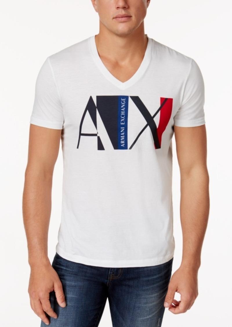 711e7e33 Armani Exchange Armani Exchange Men's Logo-Print T-Shirt | T Shirts