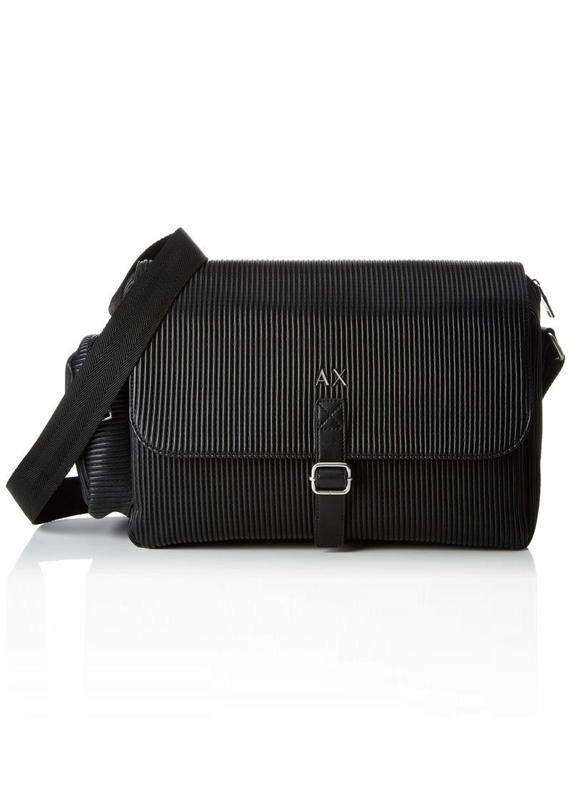 Armani Exchange Men's Messenger Bag with Buckle