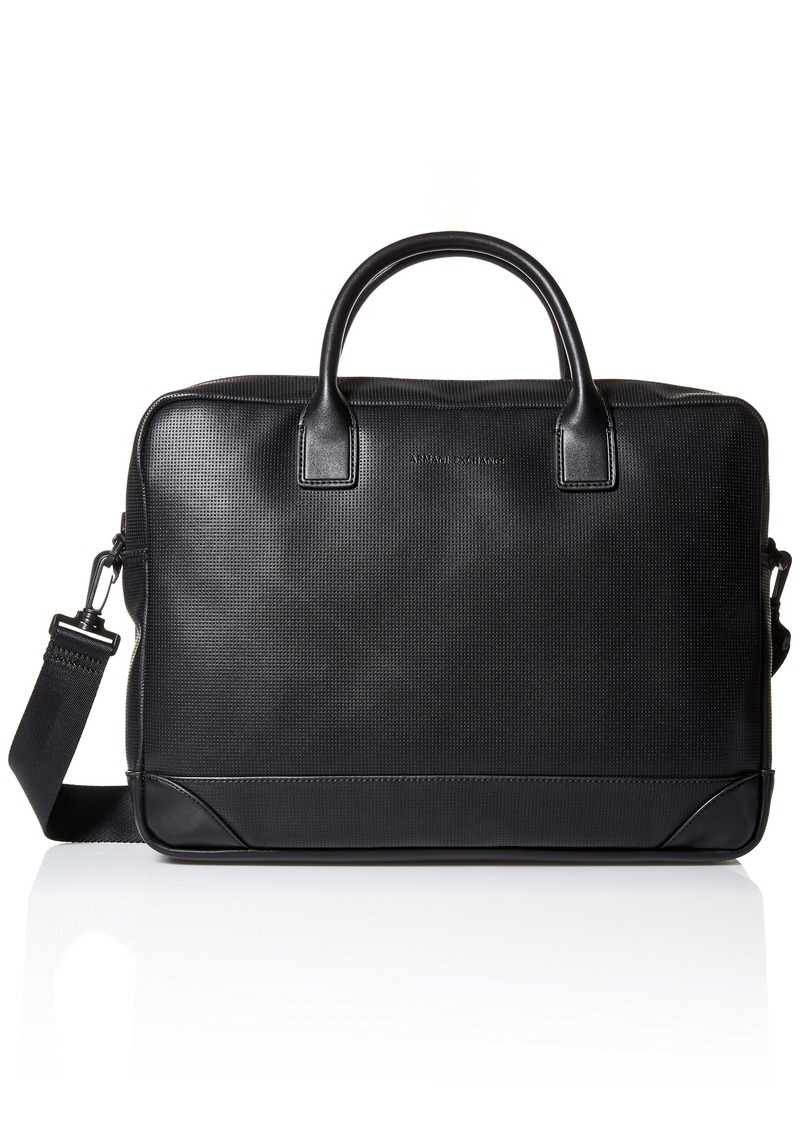 Armani Exchange Men's Microperf Briefcase