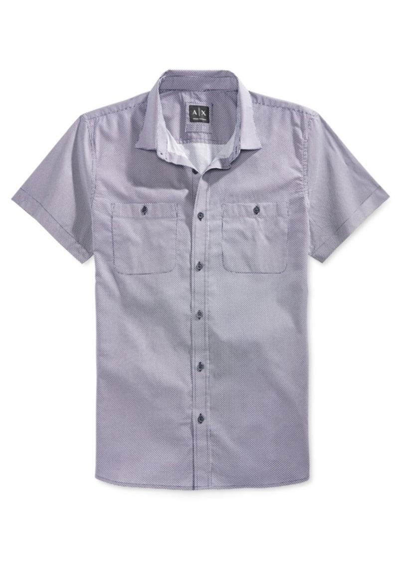 Armani Exchange Men's Mixed Dot Shirt
