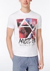 Armani Exchange Men's Music On World Off Graphic-Print T-Shirt