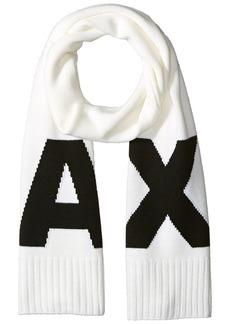 Armani Exchange Men's Oversized Knit Logo Scarf