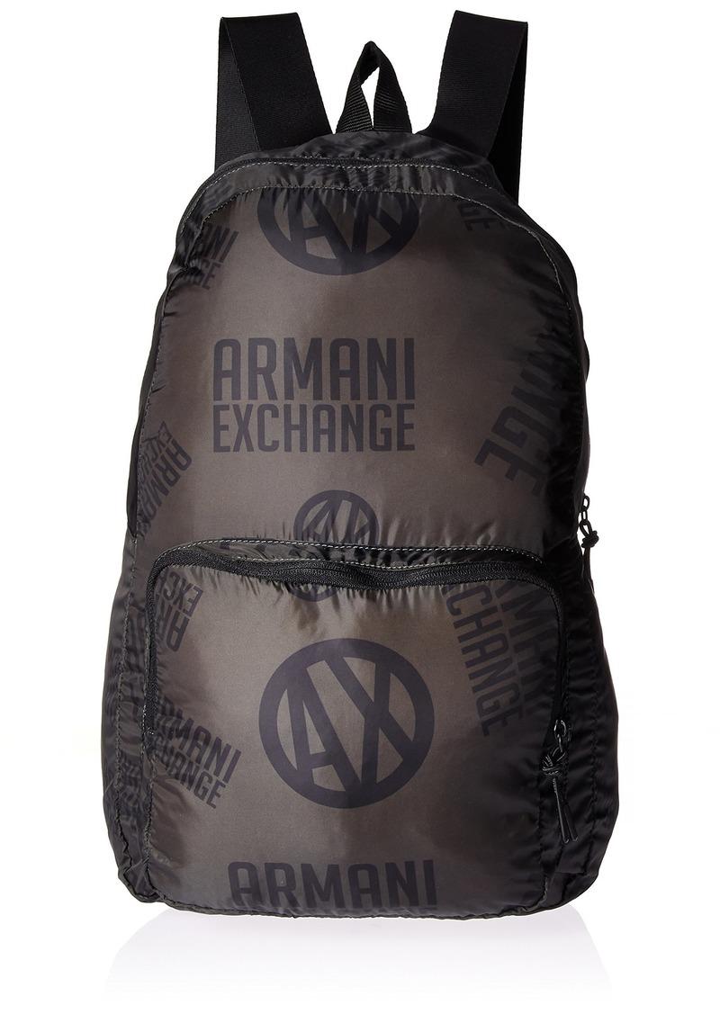 Armani Exchange Men's Printed Logo Backpack green/black