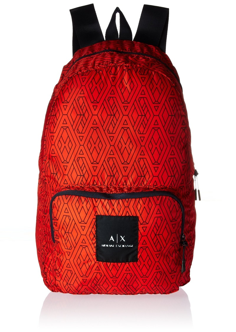 4d2f0e153d64 Armani Exchange Armani Exchange Men s Printed Logo Nylon Backpack ...