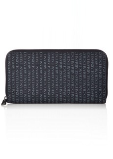 Armani Exchange Men's Rounded Zip Wallet navy