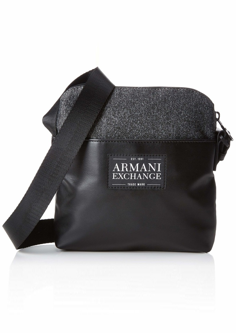 Armani Exchange Men's Small Crossbody Bag with Printed Logo