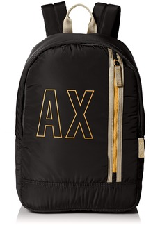 3ba58c3a889e Armani Exchange Armani Exchange Men s Allover Rubber Nylon Backpack ...