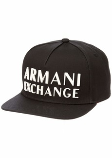 Armani Exchange Men's Snap Back Flat Bill Hat  UNI