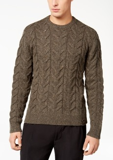 Armani Exchange Men's Speckled Cable-Knit Sweater