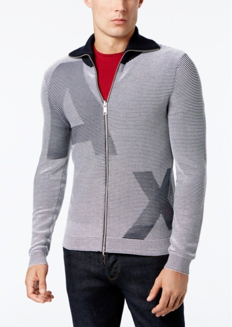 753a4739d0054 Armani Exchange Armani Exchange Men's Striped Logo Sweater | Sweaters