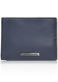 Armani Exchange Men's Tri Fold Solid Wallet navy