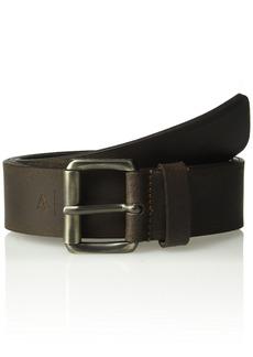 Armani Exchange Men's Two Tone Leather Belt