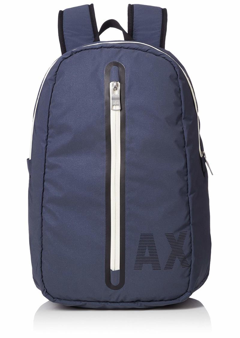 Armani Exchange Men's Vertical Zipper Backpack Navy