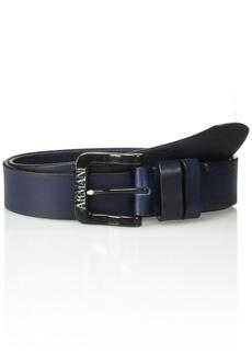 Armani Exchange Men's Vintage Looking Leather Belt  ONE SIZE