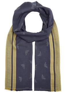 Armani Exchange Men's Viscose Fabric Scarf with Eagle Logo  ONE Size