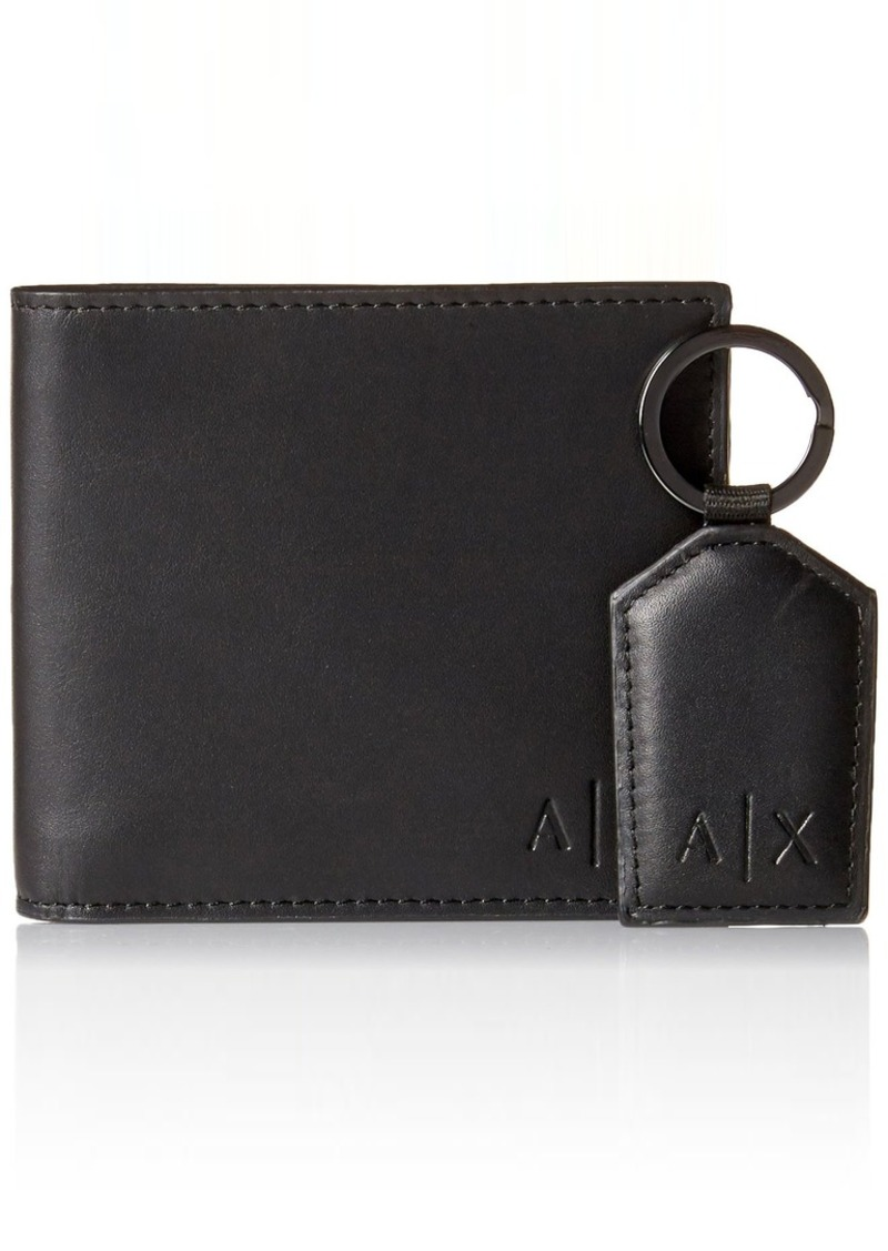 475dcd224450 Men's Wallet and Keychain Boxed Gift Set black