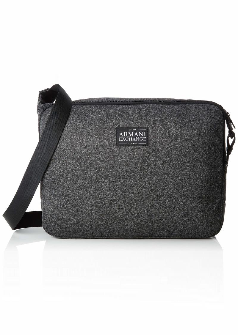 Armani Exchange Men's Zip Top Messenger Bag dark grey/black