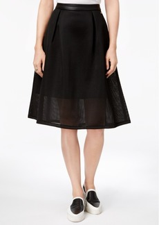 Armani Exchange Mesh A-Line Skirt