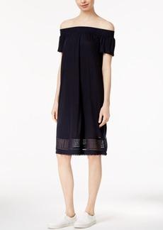 Armani Exchange Off-The-Shoulder Shift Dress