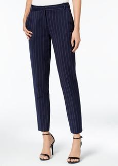 Armani Exchange Pinstripe Straight-Leg Trousers