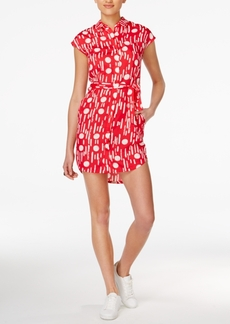 Armani Exchange Printed Belted Shirtdress