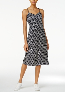 Armani Exchange Printed Crisscross Slip Dress