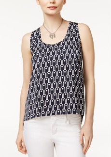 Armani Exchange Printed Scoop-Neck Shell