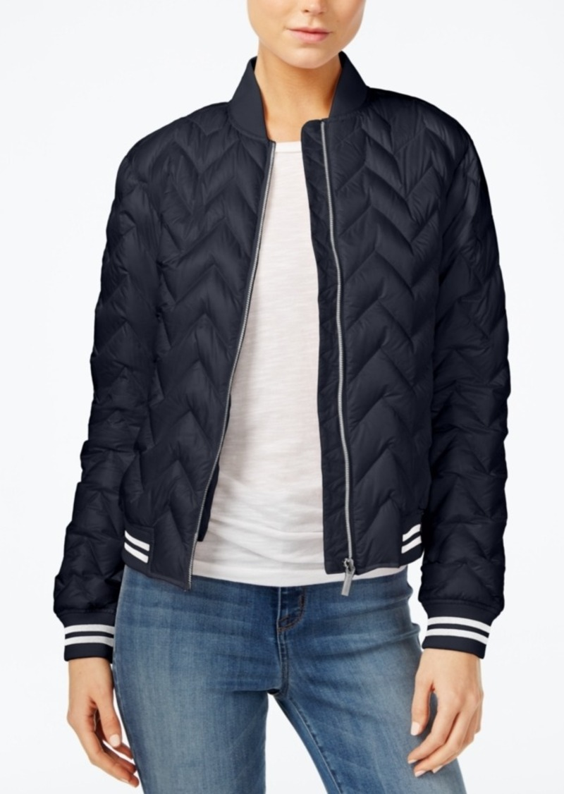 Armani Exchange Quilted Bomber Jacket