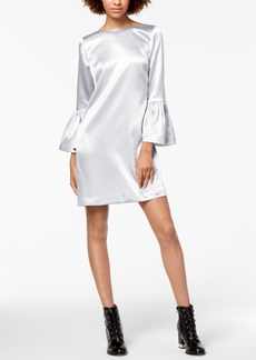 Armani Exchange Satin Bell-Sleeve Shift Dress