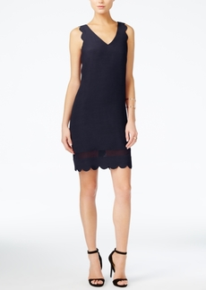 Armani Exchange Scalloped Shift Dress