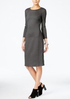 Armani Exchange Seam-Detail Sheath Dress