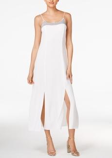 Armani Exchange Sequined Slit Midi Dress