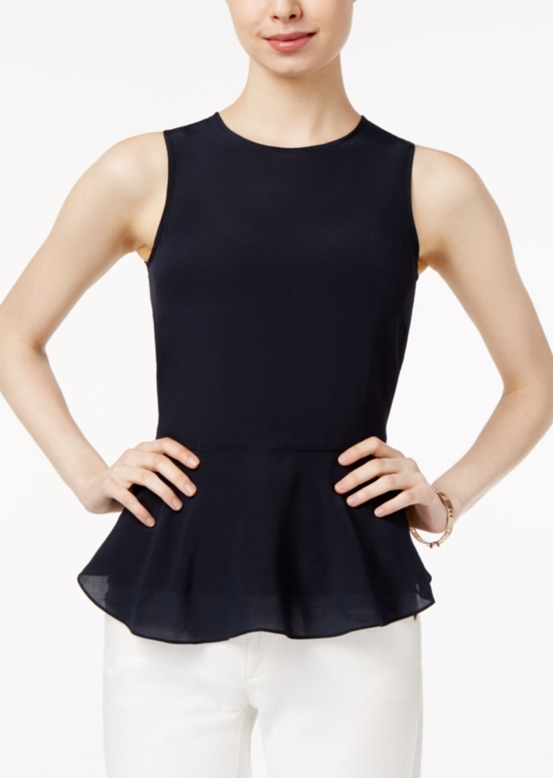 a2980503d21 Armani Exchange Armani Exchange Silk Peplum Top