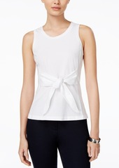 Armani Exchange Sleeveless Bow-Front Top