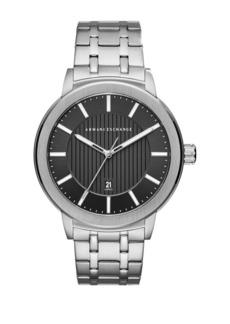 Armani Exchange Stainless Steel Textured Bracelet Watch