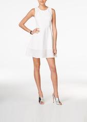 Armani Exchange Stripe-Trim Fit & Flare Dress