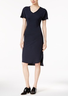 Armani Exchange Striped High-Low Dress