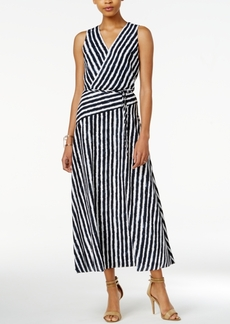 Armani Exchange Striped Maxi Dress