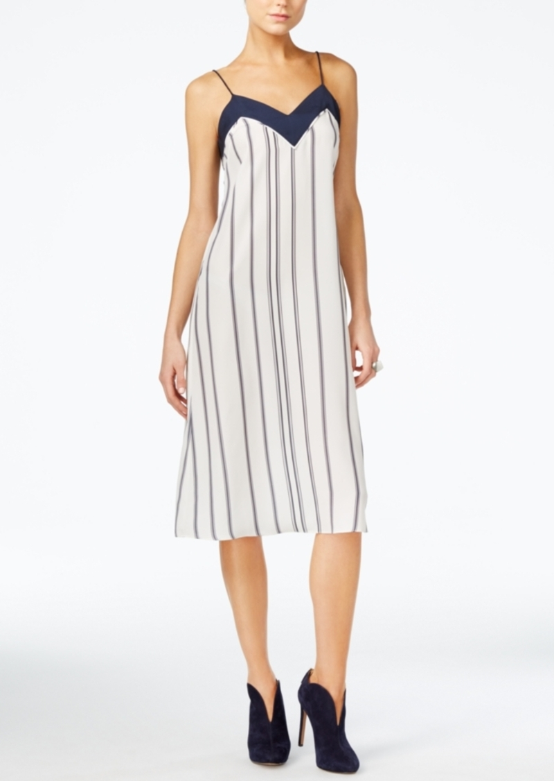 Armani Exchange Striped Slip Dress