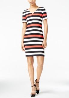 Armani Exchange Striped V-Neck Dress